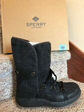 Sperry Womens Boots Size 9 Med Black Powder Ice Cap Snow Boots New In Box