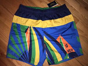 NWT $298.00 Polo Ralph Lauren Swim Shorts sz L