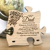 Unique Fathers Day Gift Wooden Jigsaw Puzzle Dad Daddy Plaque Sign Present Idea