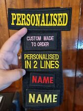 More details for personalised embroidered name tag  airsoft custom patch sew on  hook and loop