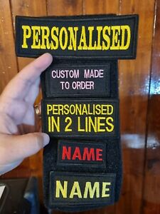 PERSONALISED Embroidered Name tag  AIRSOFT custom patch sew on  hook and loop