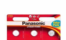 3X Panasonic CR2032 2032 moneta cella 3 V BATTERIE al LITIO per i giocattoli & Chiavi