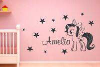 My Little Pony Wall Stickers Unicorn  Custom  Girls Name Twilight Sparkle