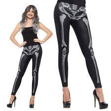 Black Accessory Halloween Spooky X-Ray Skeleton Bones Leggings Adult UK 6-14