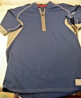 Specialized Mens Cycling Jersey Size L Quarter Zip Short Sleeve Blue/Gray