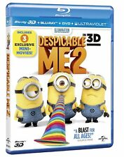 Despicable Me 2 (3D + 2D Blu-ray, 2 Discs, Region Free) *BRAND NEW/SEALED*