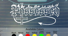 POSSESSED VINYL DECAL STICKER CUSTOM SIZE/COLOR SLAYER METAL CHURCH TANKARD