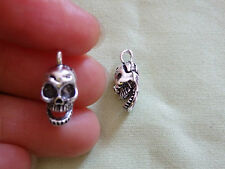 10 skull charms pendant beads tibetan silver antique wholesale UK R64