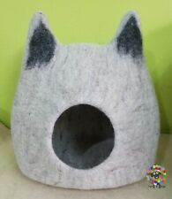 LARGE Cat cave, Felted Cat house, Cat bed, Handmade, Pure sheep wool, Pet Bed