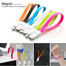Magnetic Flat Noodle Micro USB Charger Cable For Samsung Galaxy S5 S4 S3 S2 Mini