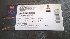 TICKET : LOKEREN - TRABZONSPOR 06/11/2014 EUROPA LEAGUE