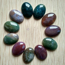 Wholesale 20pcs/lot Natural India Agate Oval CABOCHON Stone Beads 18x25mm