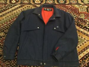 Swanndri Mens Original Pure Wool Casual Jacket Blue - XL Made In New Zealand