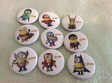 Party Bag Fillers X 12 MINION AVENGERS BADGES