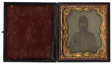Civil War Photo Tintype Union Soldier Full Case Gilded Kepi Photograph Portrait