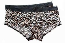 2 Lane Bryant Cacique No Show Boyshort Sheer Stripe Trim Panties 18/20 2X