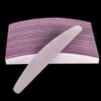 2/6/10Pcs Professional Acrylic Nail File 100/180 Grit Sanding Files Manicure