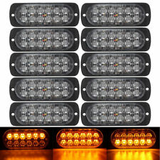 10X Amber 12 LED Car Truck Flashing Emergency Grille Light Recovery Strobe Lamp