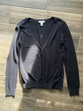 Forever 21 Cardigan Cotton Button Down Front Sweater Black Women's Size Medium