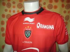 Ancien MAILLOT BURRDA SPORT RUGBY CLUB TOULONNAIS RC TOULON TL Jersey Shirt XV