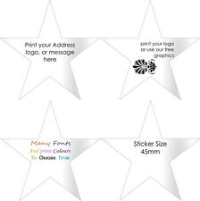 STAR Gloss White Return address labels  Personalised Stickers customised x50