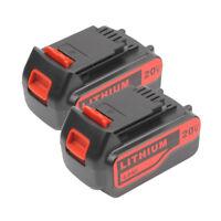 2PACK 4.0Ah Li-ion 20V Battery for Black & Decker LB2X4020 LB20 LBXR20 LSW LBX20