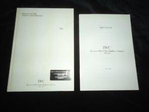 Watches from IWC 1999/2000 catalogue International Watch Co. Ltd millennium