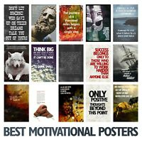 ULTIMATE MOTIVATIONAL POSTERS Art Print Motivation Quotes Inspiration Xmas Gift