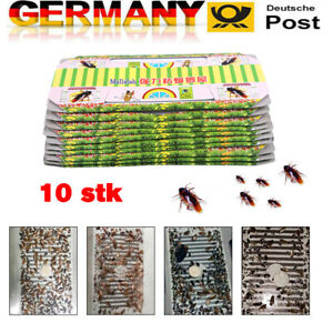10x Schaben-Falle Kakerlaken Kakerlake Haus Kleber Sticky Trap Insekt Catcher