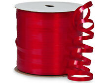 """*250YDS* 3/16"""" HOT RED High Gloss Laminated Poly Curling Ribbon"""