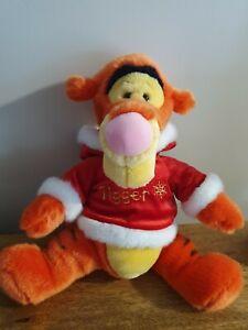 "Disney .. Winnie The Pooh .. 15"" Tigger .. Winter Themed  Vgc"