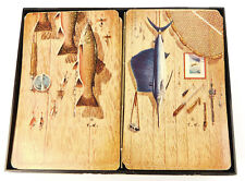 Vintage 2 Decks of Brown & Bigelow Fisherman FishThemed Playing Cards  Fishing
