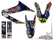 Yamaha wr 125 R/x full braaap!!! premium Neon decoración Decals sticker kit 09-17