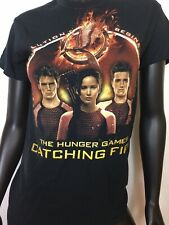 GILDAN WOMEN'S REVOLUTION BEGINS THE HUNGER GAMES CATCHING FIRE TEE SHIRT S