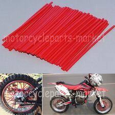 72Pcs Universal Motocross Dirt Bike Enduro Wheel Rim Spoke Wraps Skins Cover Red