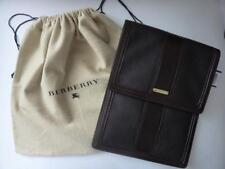 NWT BURBERRY Brown Leather Bridle Nova Check Tablet Sleeve $425.00 - Dustbag