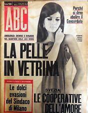 RIVISTA ABC N.8 1967 ELIZABETH LAFOSSE