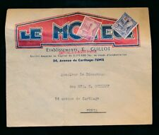 FRENCH TUNISIA c1940 ILLUSTRATED REPLY ENV. UNUSED FRANKED LE MOTEUR AUTOMOTIVE