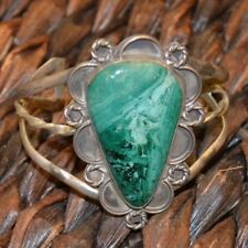 Sterling and Turquoise Cuff Bracelet Handmade and Vintage
