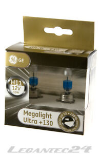 2er Set H11 12Volt 55Watt PGJ19 GE53110XNU GE Tungsram Megalight Ultra+130%