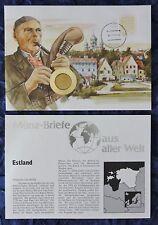 Numisbrief-estonia/Eesti-con 50 senti moneda - 1992