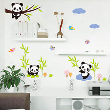 Panda Home Wall Decor Decal Kids Baby Nursery Bedroom Mural 3D Stickers Nice New