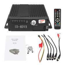 4CH DVR Security Car Vehicle Camera System HD Realtime Video Recorder SD 12V
