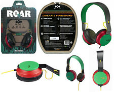 House of Marley EM-JH081-RA The Roar On-Ear Headphones, Rasta