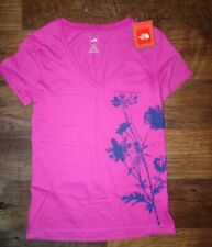 NEW The North Face Womens Tee T Shirt Short Sleeve SMALL Nwts Pink
