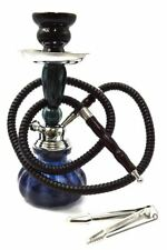 "New 11"" Black Design Glass Vase Hookah Shisha Smoking Pipe Plastic Hose"