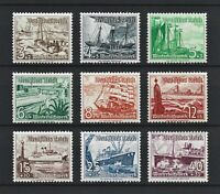 DR Nazi WWII Germany Rare WW2 Stamps Hitler Boats Frigate War Ship Winter Relief