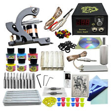 Complete Tattoo Kit de Tatouage Machine à Tatouer 6 Colorant Set