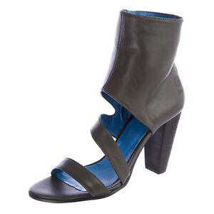 G-STAR Raw Women's SABINE Regalia Grey Leather Heels Shoes GS32556/066 NEW