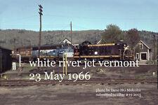 "Boston & Maine RR 4228  showing nose patch  White River Jct Vt  1966  4x6"" photo"